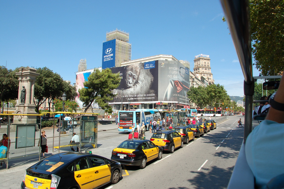 From Barcelona Airport to the City Centre by taxi