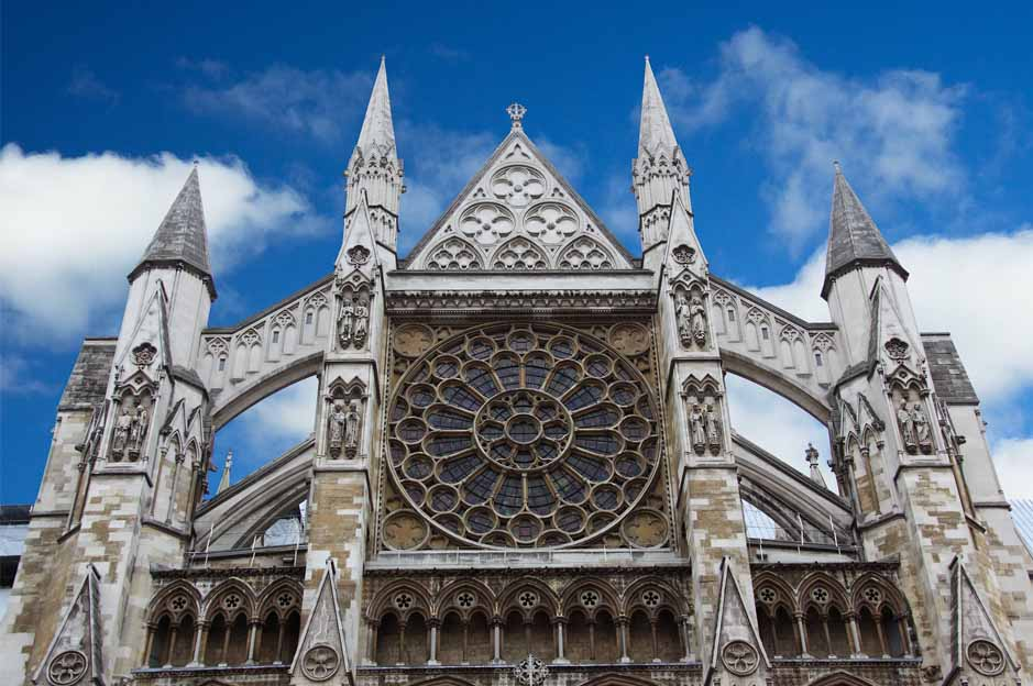 westminster church: facade