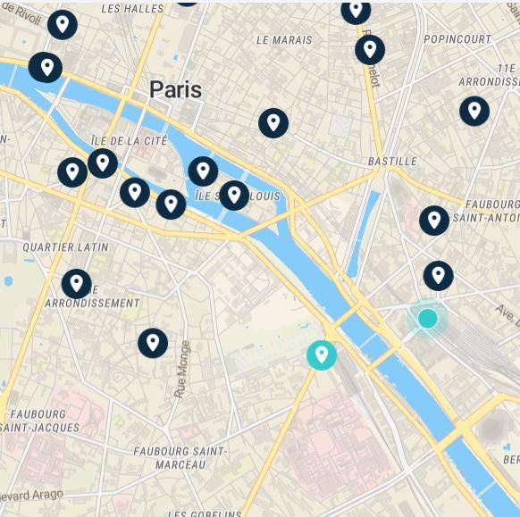 left luggage gare de lyon: map