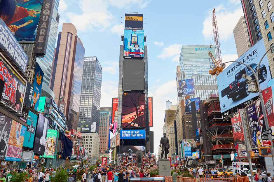times quare lights: most important places in the world